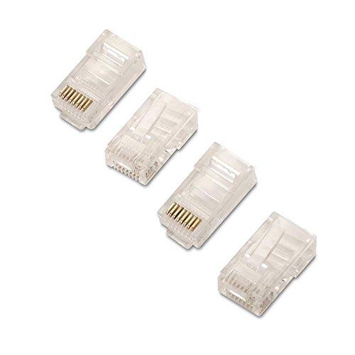 NanoCable 10.21.0102-50 - Conector para cable de red Ethernet RJ45, 8 hilos Cat.5e UTP, bolsa de 50 unidades