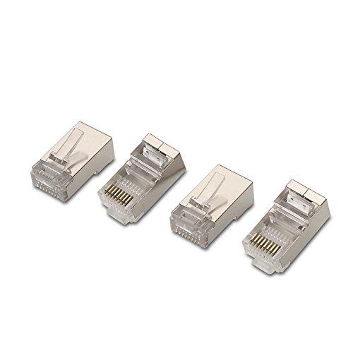 NanoCable 10.21.0103 - Conector para cable de red Ethernet RJ45, 8 hilos Cat.5e FTP, bolsa de 10 unidades